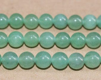 15 inches Full strand,Natural Green Aventurine smooth round beads 6mm 8mm 10mm 12mm ,loose beads,semi-precious stone
