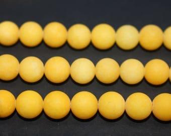 15 Inches Full strand,5 Strand Yellow Malaysian Jade Matte round beads  6mm 8mm 10mm beads,loose beads,semi-precious stone