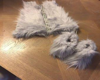 Custom Vest & Faux Fur Boots