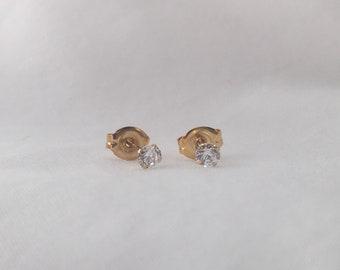 swarovski element 18K gold earrings