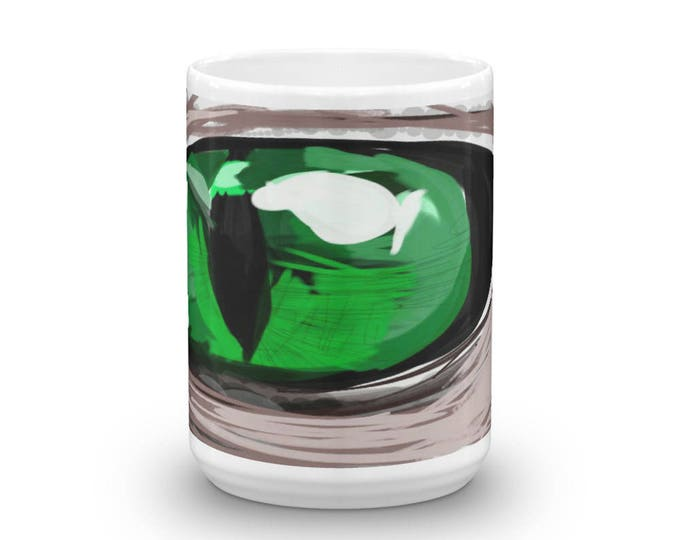 Cat's Eye Mug, Cat's Eye Cup, Cat's Eye Coffee, Green Cat's Eye Coffee Mug