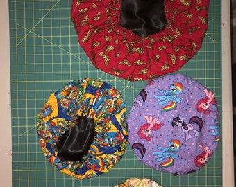 Custom Adult satin bonnets