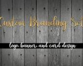 Custom branding set, Branding, Etsy Branding, Complete branding set, Custom logo design, Etsy Logo, Business logo, Business Branding
