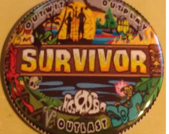 Survivor Outwit Outplay Outlast 2.25 Inch Wearable Button