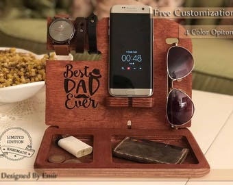 Docking Station, Personalized gift for men, iPhone Docking Station, iphone charging, Gift for Men, iphone organizer, iPhone dock