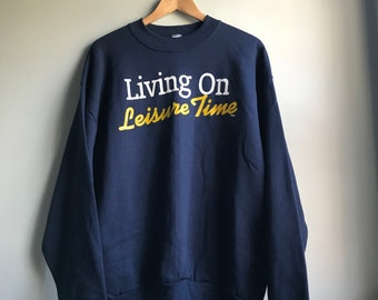 90s Living on Leisure Time Sweatshirt - XL