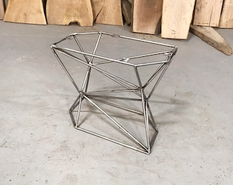 Geometric Coffee Table Metal Base