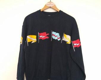 Vintage Junko Shimada Flag Pullover Sweatshirt