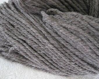 Handspun  Medium Grey Rambouillet 3-ply