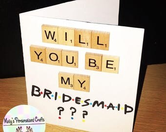 Friends themed bridesmaid card