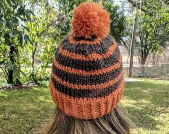 Striped Snowpocalypse Knit Hat