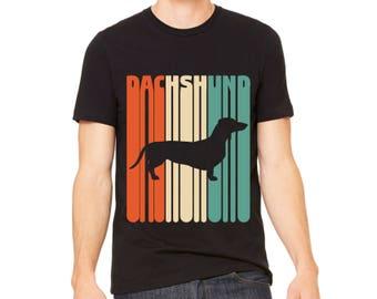 MEN'S SHIRT Vintage Dachshund T-Shirt | Dachshund Gift | Dachshund Owner Gift | Dachshund Dad Tee | Dachshund Shirt | Dachshund Gift Husband