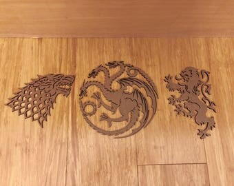 Game of Thrones House Sigil - Laser Cut