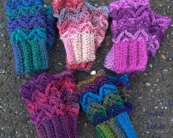 Fingerless mitts / wrist warmer