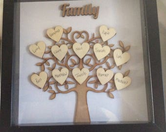 Handmade family tree picture