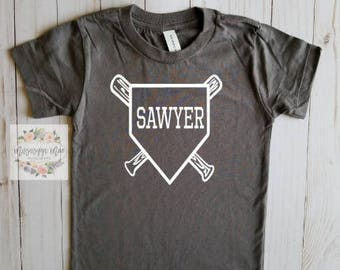 Baseball Shirt, Toddler Baseball Shirt, Vinyl Shirt, Handmade, Free Shipping