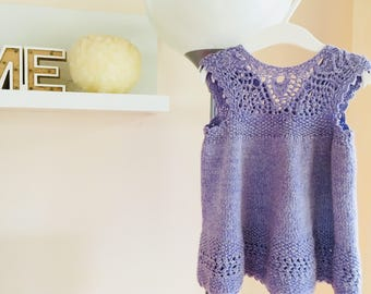Cotton and Cashmere Baby Girl Dress