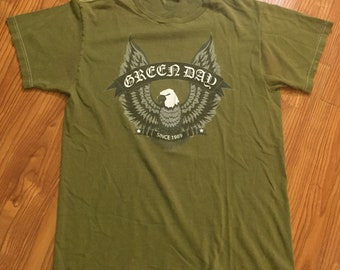 Vintagee 00s Green Day T Shirt