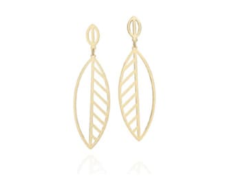 Leaf Gold platted earrings