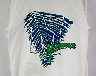 Vintage 90s Minnesota Zubaz-style Crewneck Sweatshirt Size XL
