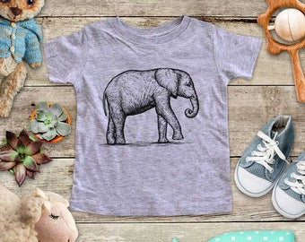 Elephant graphic Zoo animal wild kingdom Shirt - Baby bodysuit Toddler youth Shirt cute birthday baby shower gift