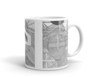 Doublehead 3 Drawings Mug