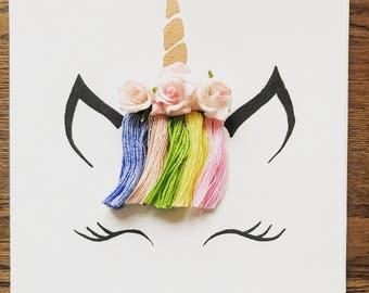 Rainbow Unicorn Canvas