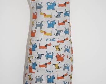 Linen & Cotton Stylish Apron Dog Design