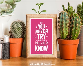 If You Never Try, You'll Never Know - A4 Print