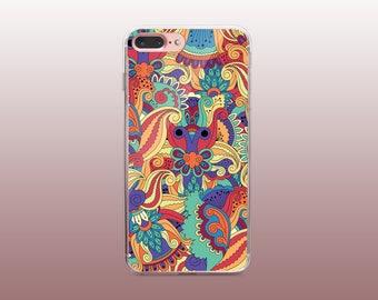 Mandala Clear TPU iPhone Case for iPhone 8- iPhone 8 Plus - iPhone X - iPhone 7 Plus-iPhone 7-iPhone 6-iPhone 6S-Samsung S8