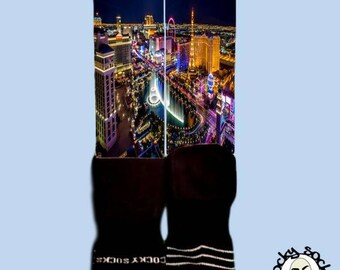 Vegas Skyline Socks || FREE SHIPPING ||