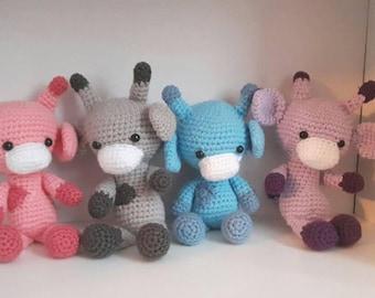 Crochet Baby Giraffe Plush Toy