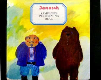 Zampano's Performing Bear Hardcover by Janosch 1976