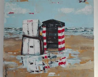 Beach Frisian Island Marine painting picture Canvas