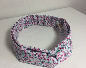 Blue Pink liberty adult headband