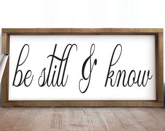 Be Still And Know, Foyer, Entryway Decor, Rustic Entryway Decor, Farmhouse Sign, Inspirational Gifts, Rustic Wood Signs, Living Room Decor