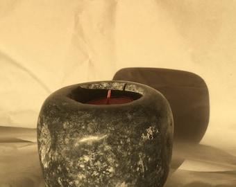 Burren limestone candle holder