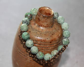 turquoise and bronze