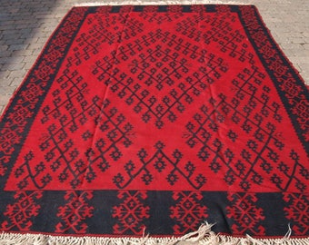 Old Sharkoy Kilim of Large Size, Traditional Design With Good Colour, About 50 years Old.