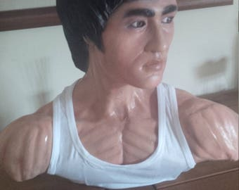Bruce Lee The Little Dragon 1:1 life size bust film prop head 1/1 hot toys enter the dragon