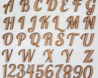 A-Z Wooden font MDF Special  letters and Numbers