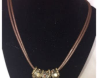 Vintage Rope Ring Necklace