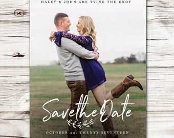 Save the Date Announcement, Save the Date Magnet, Save the Date Postcard, Love Bounds Save the Date Announcement