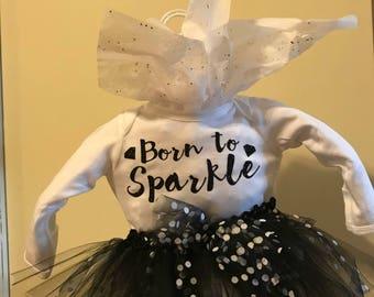 Born to Sparkle Onesie and Tutu set