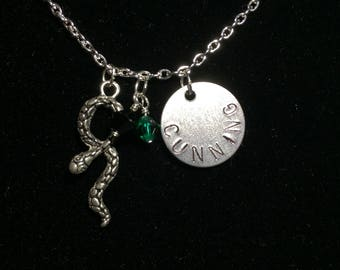 Slytherin Inspired Charm Necklace