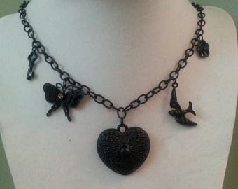 Black Charm Necklace