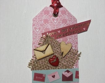 Valentines Letter Gift Tag