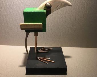 Bird wooden cube