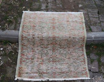 Free Shipping Door Mat Turkish  Rug2.7 x 3 ft. Oushak Rug Small Rug Boho Rug Vintagearerug Ethnic Rug Decorative Rug Aztec Rug MB156