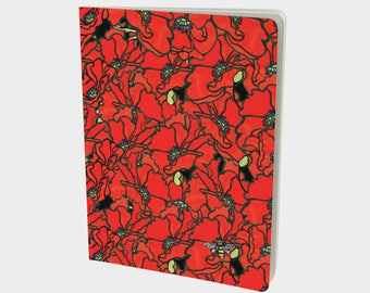 """Notebook - Poppies 7.25"""" x 10"""""""